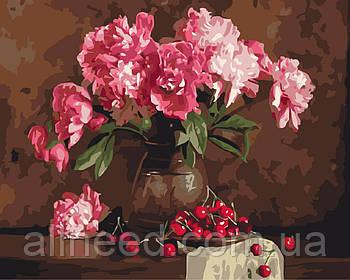 Картина по номерам Пионы и вишни