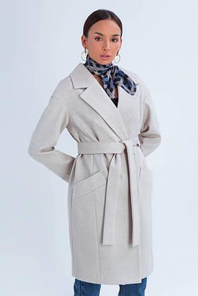 Пальто женское демисезонное Джил светло-бежевый цвет, фото 2