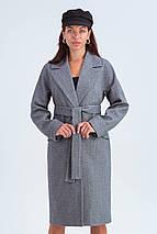 Пальто женское демисезонное Деми черно-белый цвет, фото 2