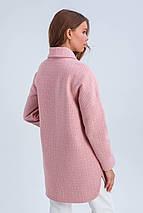 Пальто женское демисезонное в клетку Майли розовый цвет, фото 3