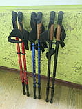 Треккинговые палки NORD STICKS синие телескопические, фото 3