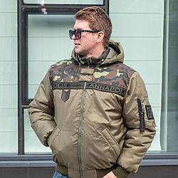 Недорогі зимові куртки чоловічі від виробника 46-58 хакі