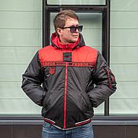 Чоловічі куртки под резинку 46-58 красный