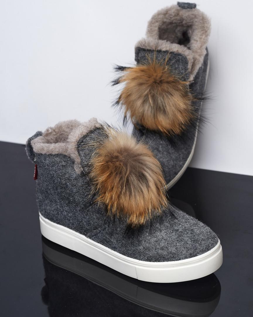 Ботинки войлок