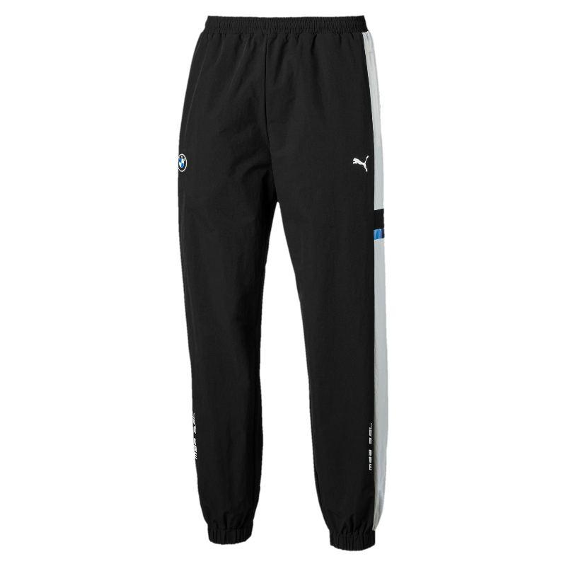 Штаны спортивные Puma BMW MMS Street 595465 01 (черные, мужские, нейлон-эластан, свободный крой, логотип пума)