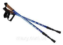 Треккинговые палки NORD STICKS синие телескопические