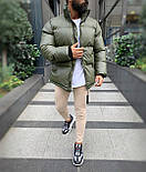 😜 Куртка - Мужская куртка оливковая дутая, фото 3