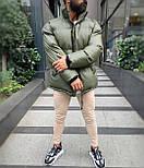 😜 Куртка - Мужская куртка оливковая дутая, фото 5