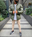 😜 Куртка - Мужская куртка оливковая дутая, фото 4