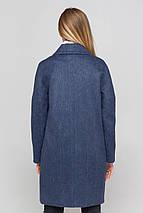 Пальто женское шерстяное демисезонное Астрид джинс цвет, фото 3