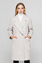 Пальто женское шерстяное демисезонное Астрид бежевый цвет, фото 2