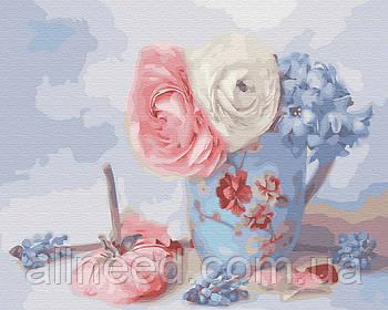 Картина по номерам Нежные цветочки