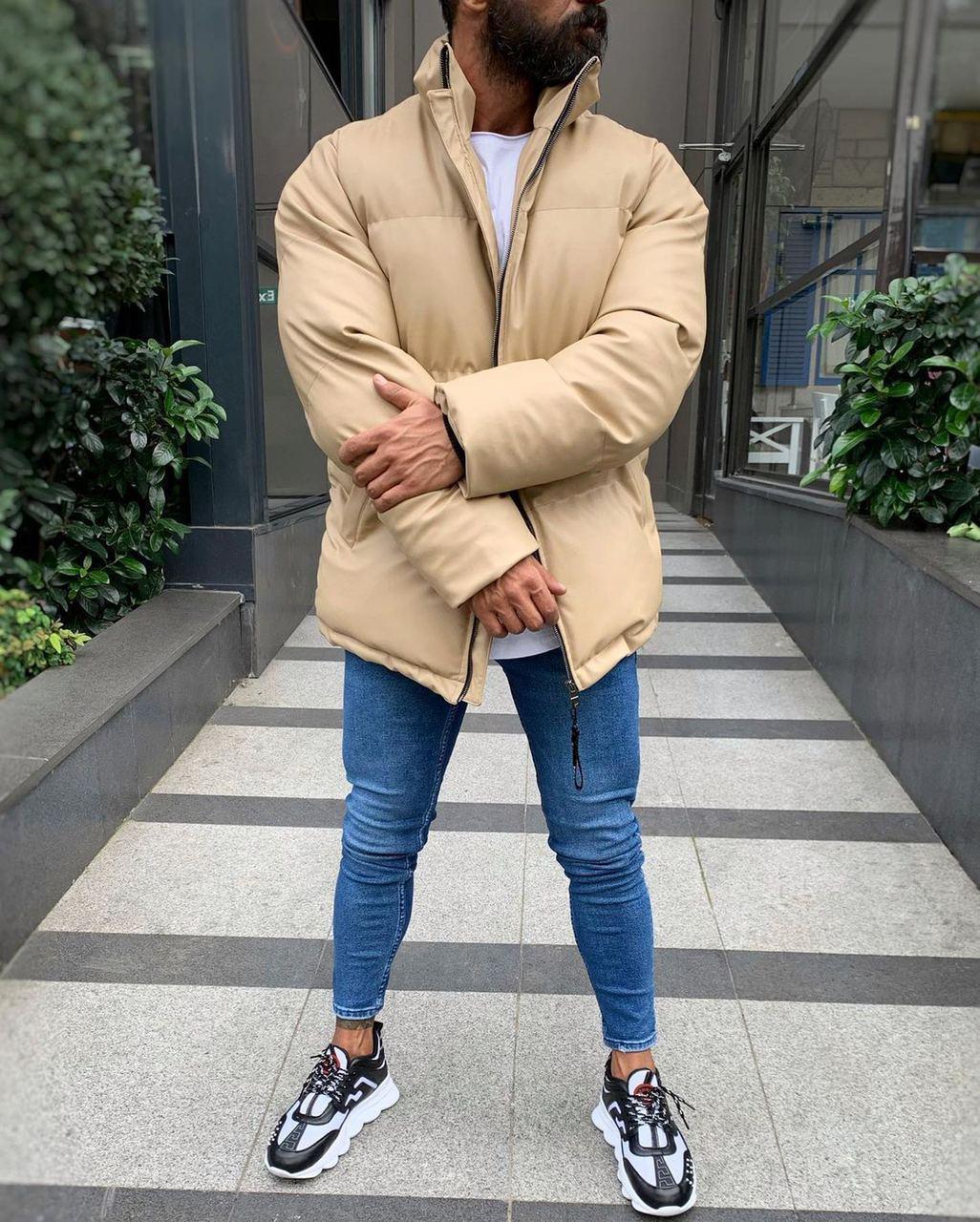 😜 Куртка Чоловіча куртка бежева дута