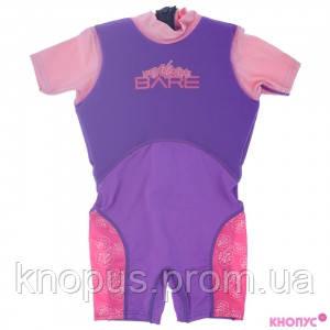 Гидрокостюм детский для девочки Dolphin 1,5 мм, фиолетовый, на 2 года и на 6 лет