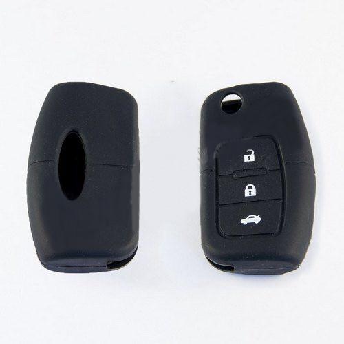 Силиконовый чехол для автомобильного ключа Ford black