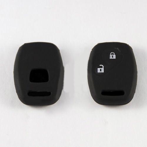 Силиконовый чехол для автомобильного ключа Honda small black/2