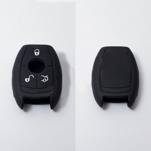 Силиконовый чехол для автомобильного ключа Mercedes-Benz black