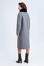 Пальто женское зимнее Эльза черно-белый цвет, фото 3