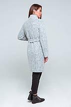 Пальто женское шерстяное демисезонное Фели светло-серый цвет, фото 3