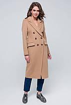 Пальто женское шерстяное демисезонное Рене бежевый цвет, фото 2