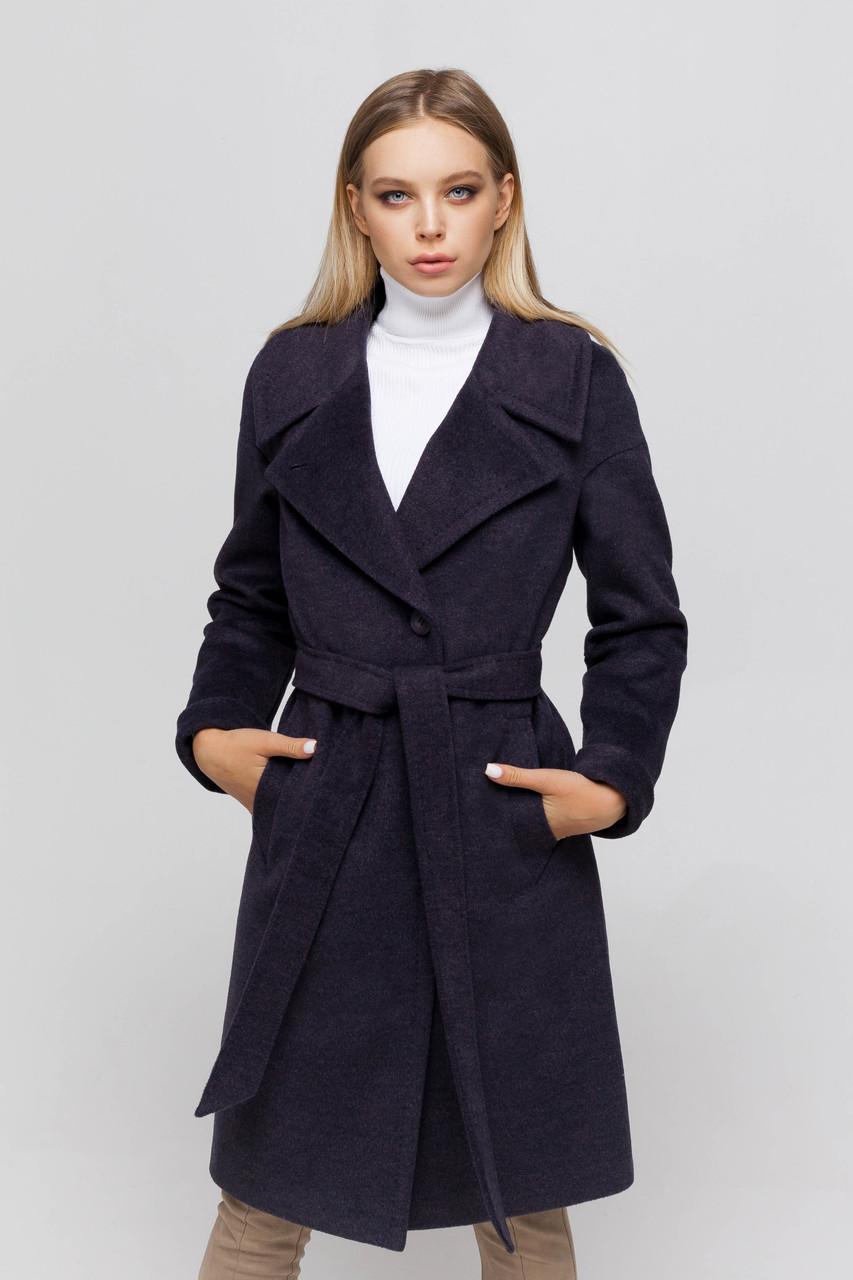 Пальто женское шерстяное сезон весна-осень Ронни ультрафиолет цвет