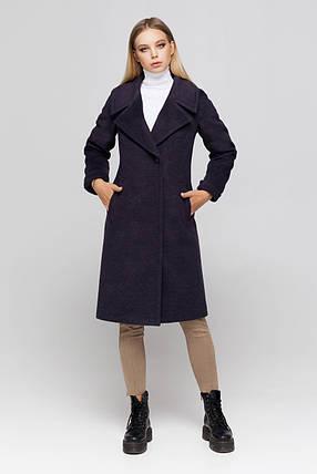 Пальто женское шерстяное сезон весна-осень Ронни ультрафиолет цвет, фото 2