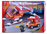 Конструктор Пожарный вертолет 0219 (211 деталей)