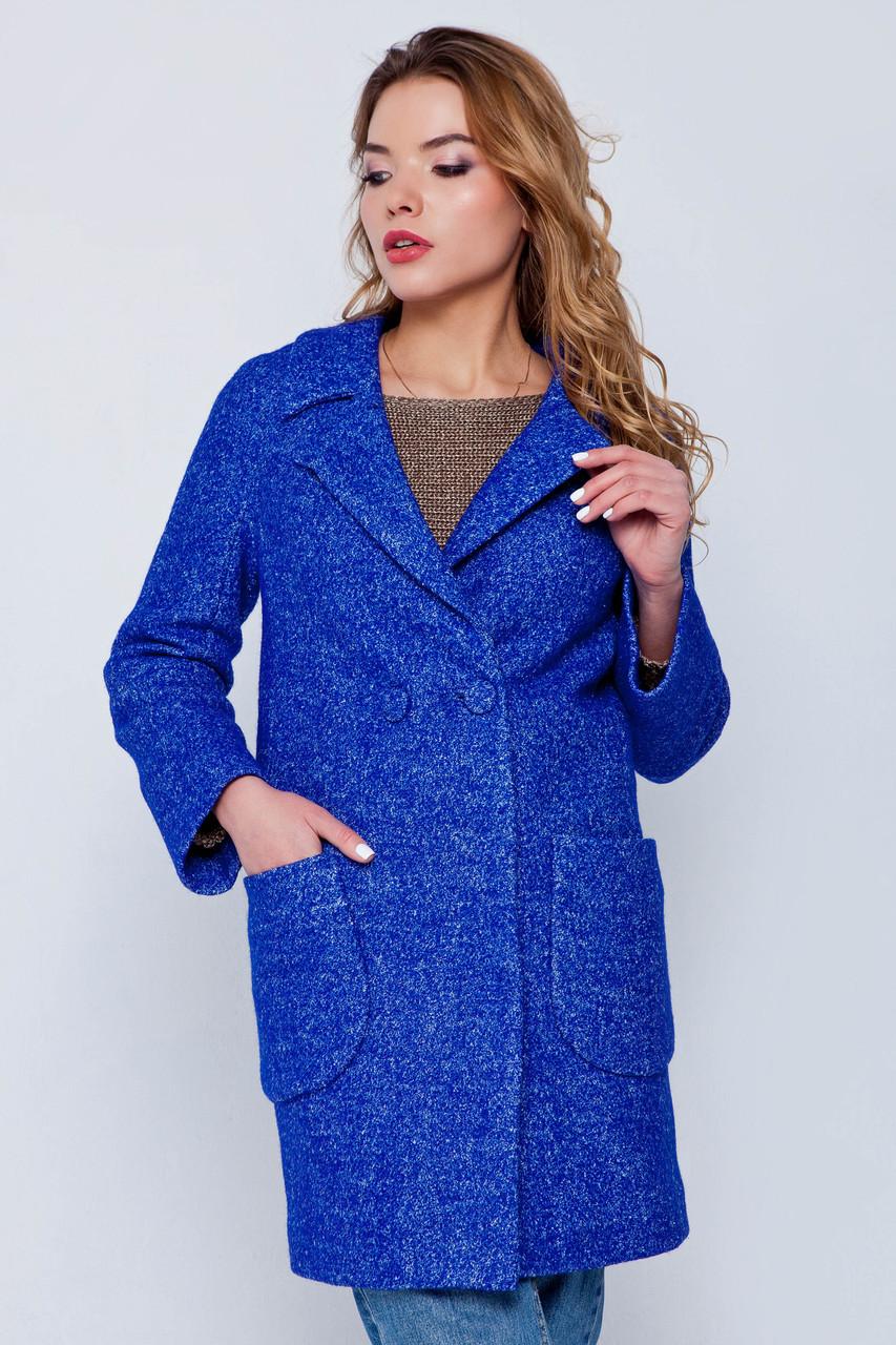 Пальто женское демисезонное Марго электрик цвет