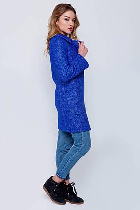 Пальто женское демисезонное Марго электрик цвет, фото 2