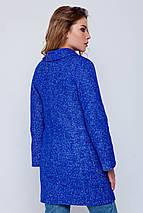 Пальто женское демисезонное Марго электрик цвет, фото 3