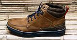 Мужские кожаные ботинки Differente (Италия). Осенние ботинки зимние утепленные шерстью. 42, фото 3
