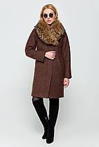 Пальто женское зимнее Эрика коричневый цвет, фото 3