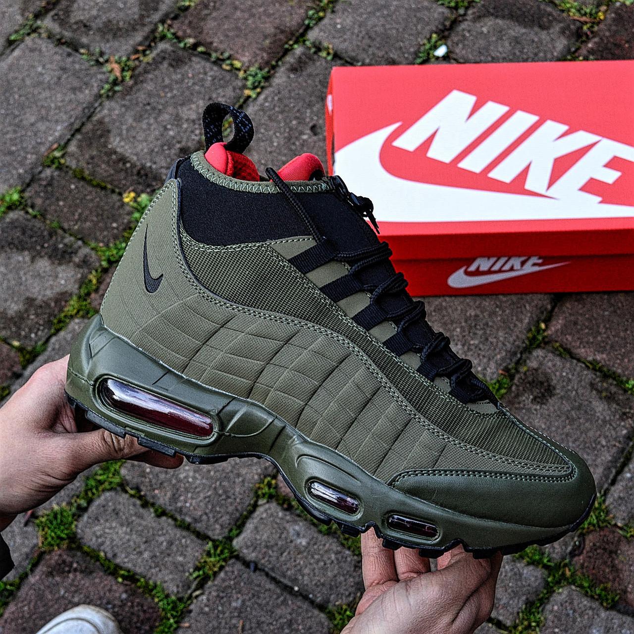 """Зимові кросівки Nike Air Max 95 Sneakerboot """"Хакі"""""""