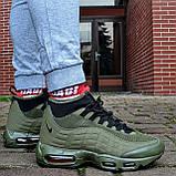 """Зимові кросівки Nike Air Max 95 Sneakerboot """"Хакі"""", фото 2"""