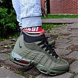 """Зимові кросівки Nike Air Max 95 Sneakerboot """"Хакі"""", фото 4"""