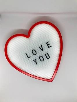 Світильник-нічник Серце Light up message board з посланням Червоний (Bnw124109)