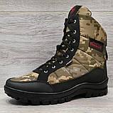 Черевики чоловічі зимові камуфляжні на хутрі (Кбл-416з), фото 2