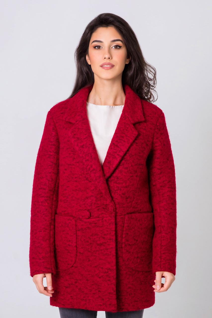 Пиджак женский шерстяной демисезонный Бланка тур. ш. темно-красный цвет