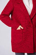 Пиджак женский шерстяной демисезонный Бланка тур. ш. темно-красный цвет, фото 2