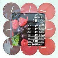 Свечи ароматизированные чайная таблетка 18 шт ягода