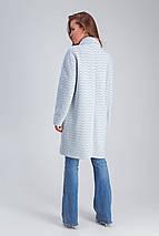 Пальто женское демисезонное Ясмин голубой цвет, фото 3