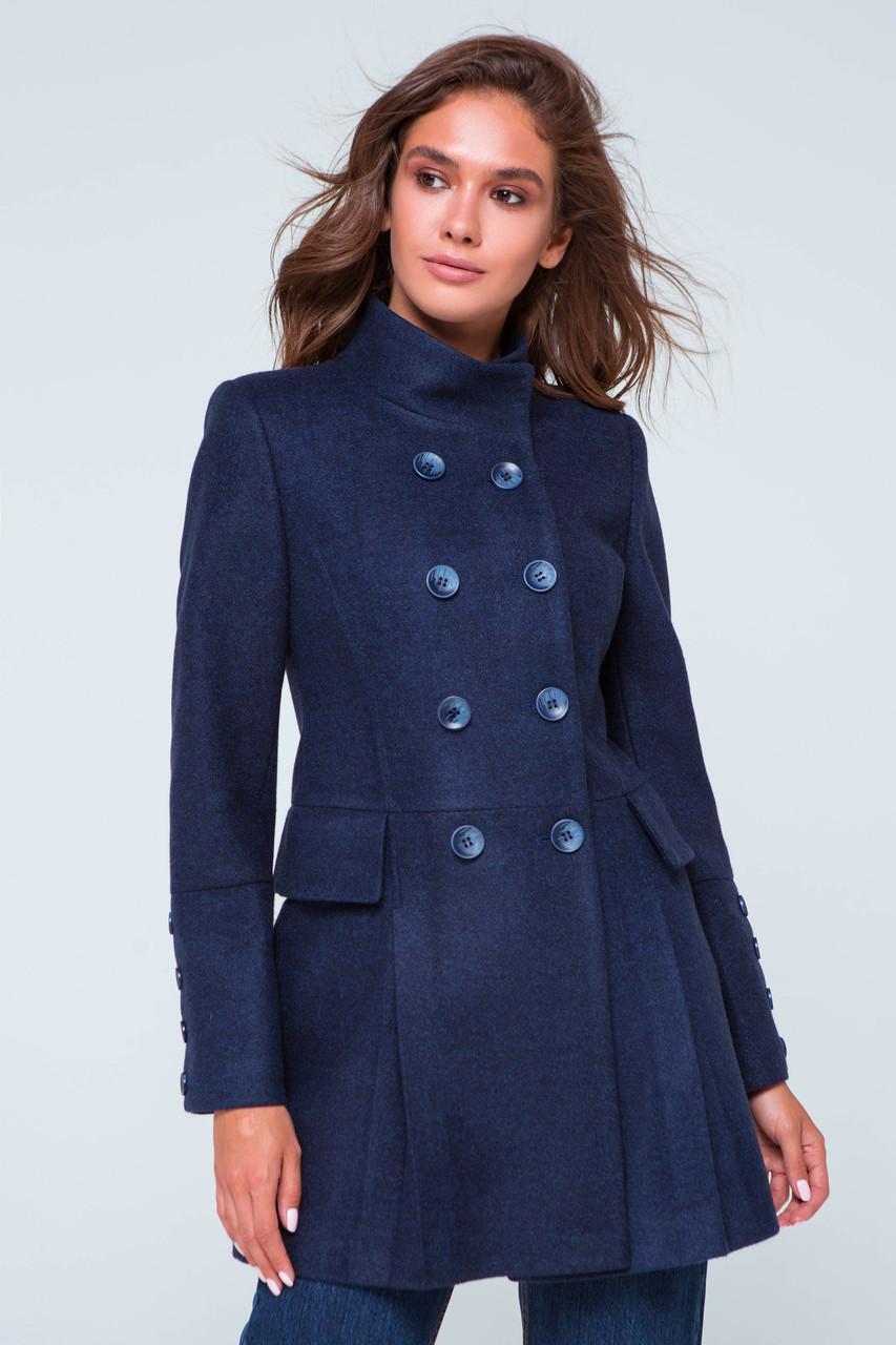 Пальто женское демисезонное Эмбер синий цвет