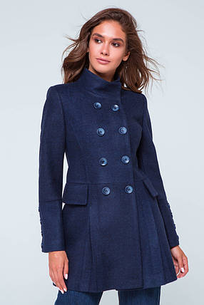 Пальто женское демисезонное Эмбер синий цвет, фото 2