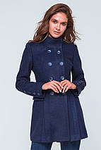 Пальто женское демисезонное Эмбер синий цвет, фото 3