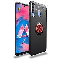 Чехол Fiji Hold для Samsung Galaxy A20s (A207) бампер накладка с подставкой Black-Red