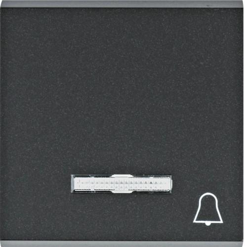 """Клавиша с линзой и символом """"Звонок"""" Lumina черная"""