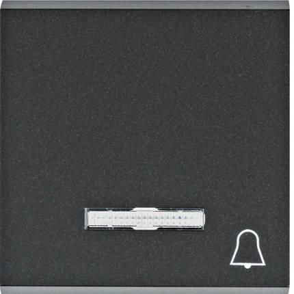 """Клавиша с линзой и символом """"Звонок"""" Lumina черная, фото 2"""