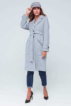 Пальто женское демисезонное Элла светло-серый цвет, фото 2