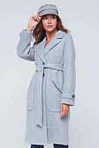 Пальто женское демисезонное Элла светло-серый цвет, фото 3