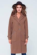 Пальто женское демисезонное Элла светло-коричневый цвет, фото 2